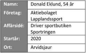 """Informationsruta från """"våra företagare berättar"""" - AB Lapplandssport"""