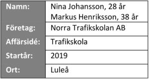 """Informationsruta från """"våra företagare berättar"""" - Norra Trafiksskolan AB"""