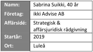 """Informationsruta från """"våra företagare berättar"""" - Ikki Advise AB"""
