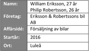 """Informationsruta från """"våra företagare berättar"""" - Eriksson & Robertsson bil AB"""